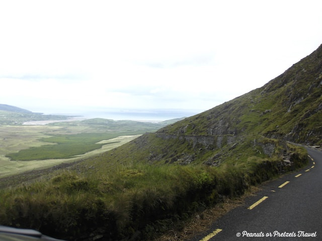 Driving in Dingle Peninsula, road on the dingle peninsula in ireland
