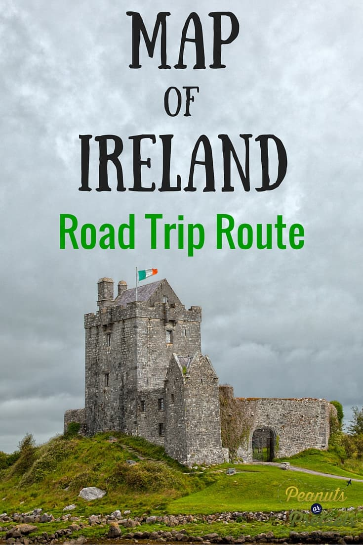 Map of Ireland Road Trip Route