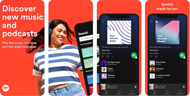 Spotify app, road trip apps