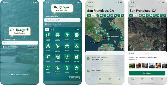 Ranger App, road trip apps,