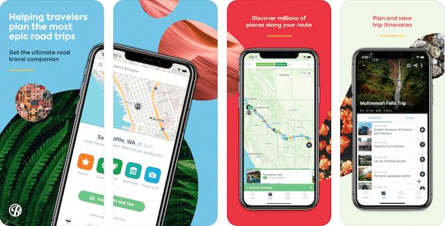 roadtrippers app, road trip apps, geocaching apps