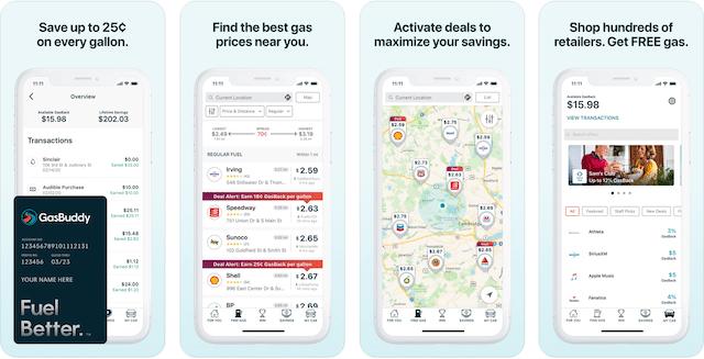 Gas Buddy App, road trip app
