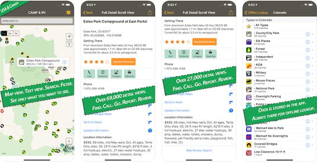 AllStays App, road trip app, RV apps