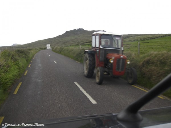Share the road with Tractors in Ireland, driving in ireland, things to do in ireland, renting a car in ireland, map of ireland