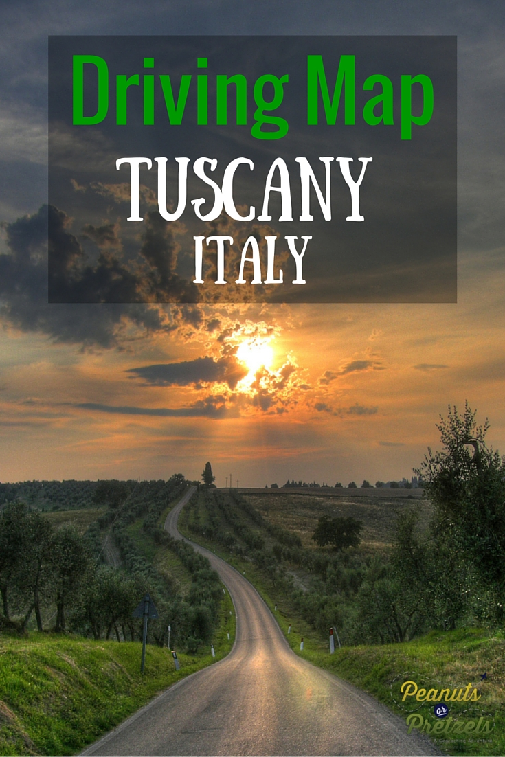 Tuscany Italy Driving Map