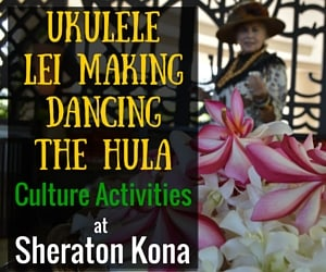When in Hawaii Learn to Play the Ukulele, Dance the Hula, and Make Leis with Sheraton Kona