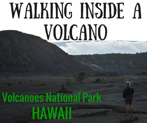 Walking INSIDE a Volcano!  Hawaii Volcanoes National Park