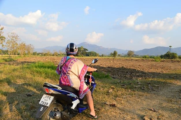 Biking in the Thailand countryside