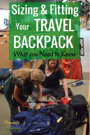 REI fitting, Mountainsmith backpacks, Travel backpacks,