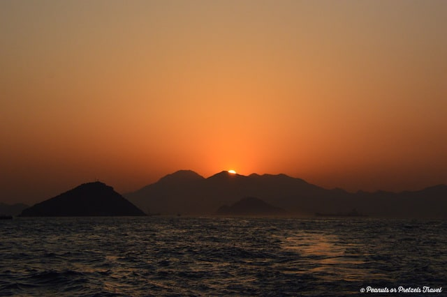 Sunset over Lantau Island