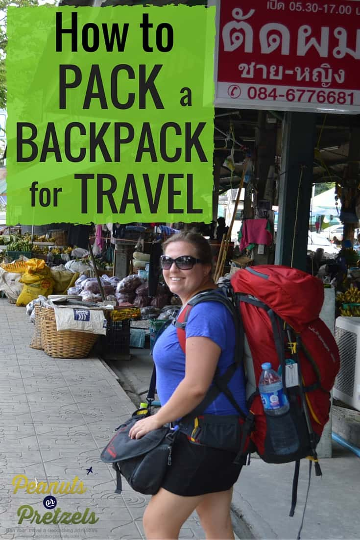 how to pack your backpack