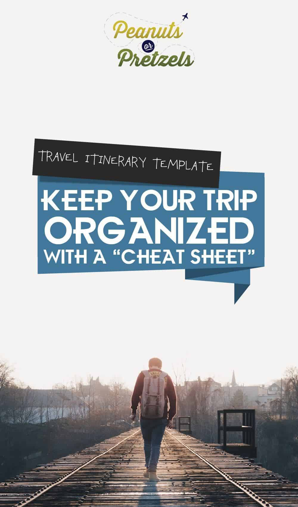 travel itinerary template, cheat sheet for a trip, trip planning word document