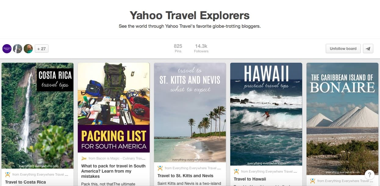 Yahoo Travel Explorers