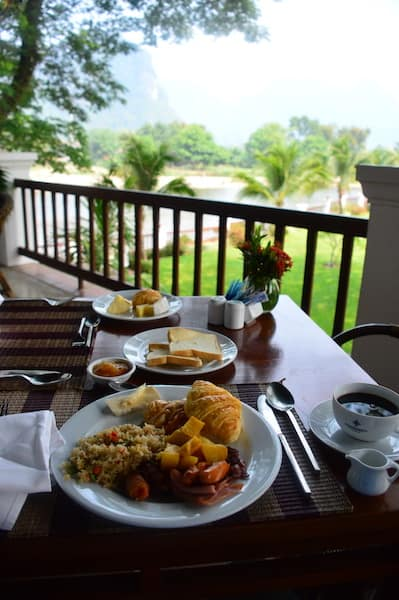 Breakfast at Riverside Boutique Resort