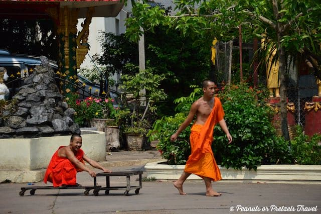 Vientiane is the capital, where is laos, monks in laos