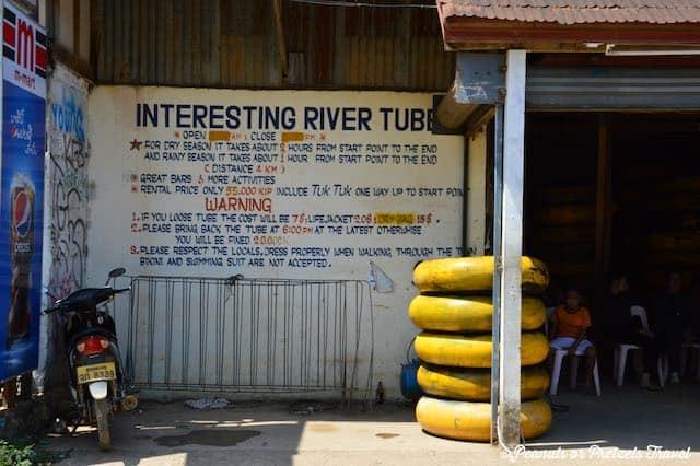 Tubing Sign, vang vieng tubing