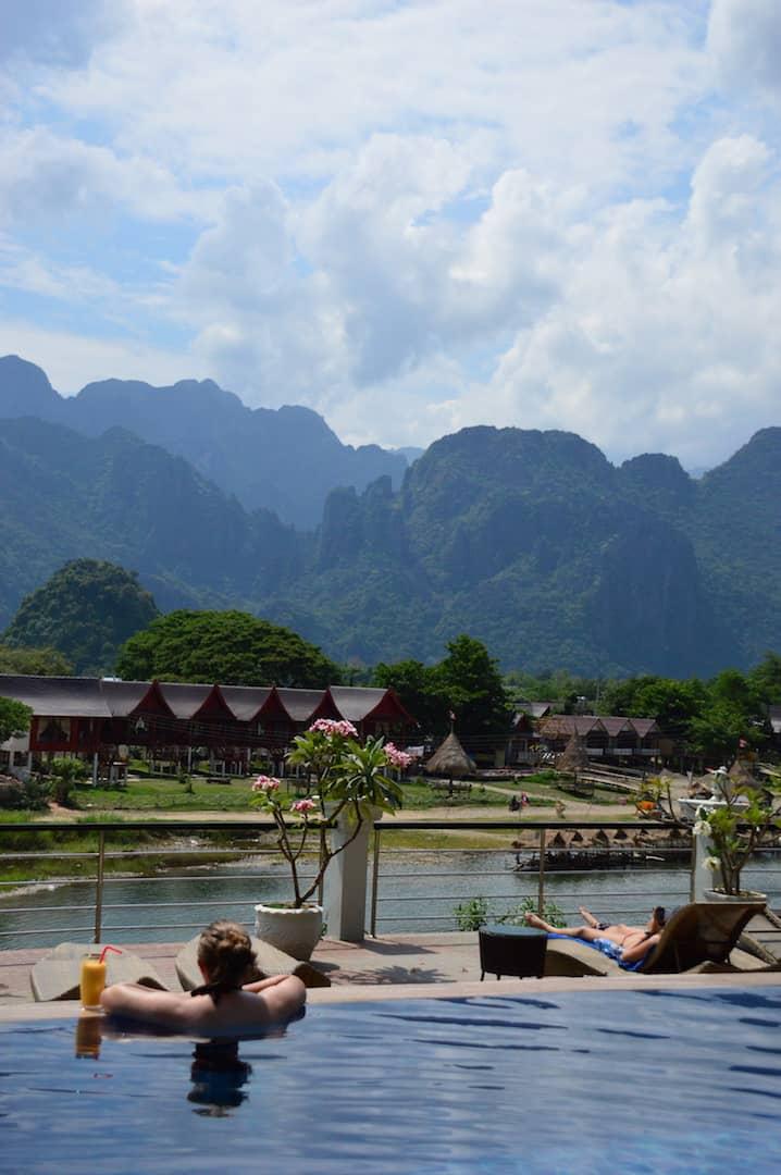 Poolside at Silver Naga