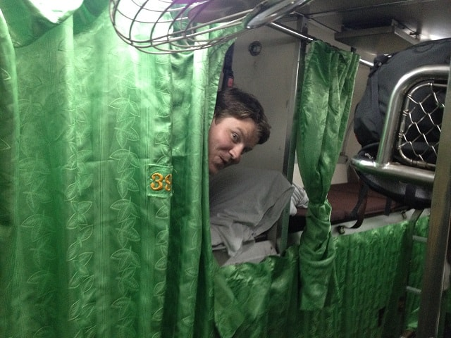 josh on overnight train