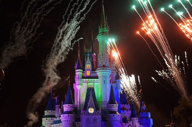 Disney Magic Kingdom fireworks