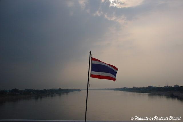 Thai Flag, Bangkok to Vientiane by train