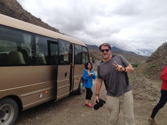 Bus break - time to breath in the fresh air and take some pics!