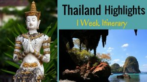 best 1 week thailand itinerary, thailand week itinerary, travel itinerary thailand