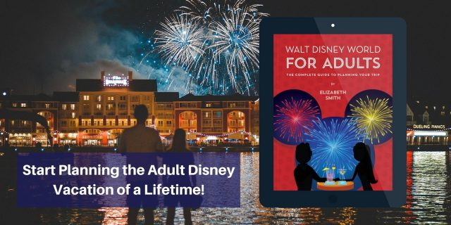 walt disney world for adults ebook cover with couple at resort