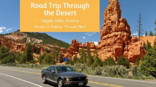 roadtrip through a desert travel nut