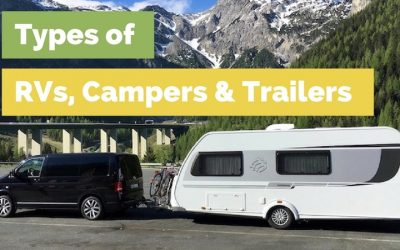Types of RVs, Campers and Trailers:  Which is Right for You?