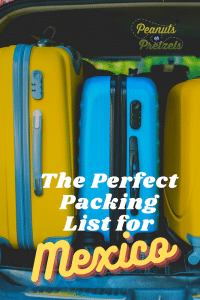 Packing list for Mexico, Mexico packing list