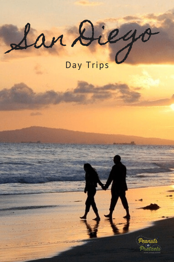 couple of beach, day trips from San Diego, walking on the beach