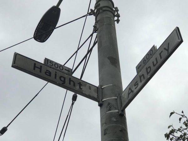 haight Ashbury street sign
