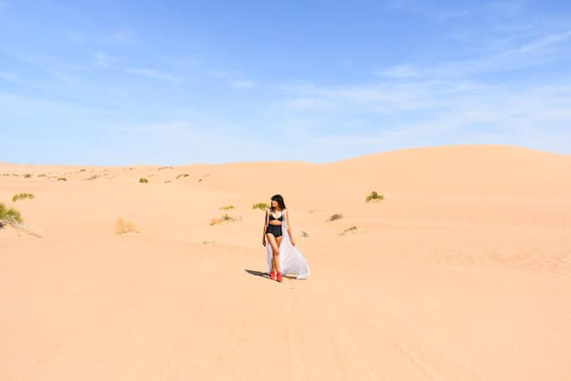 Imperial Sand Dunes, walking in the desert