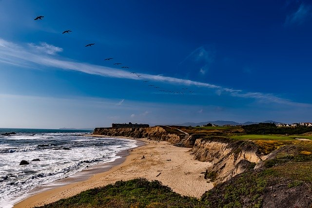 half moon bay, near San Francisco, california beaches