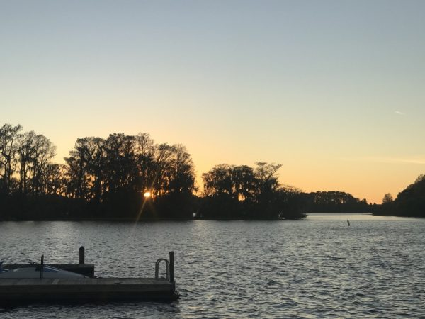 Fort Wilderness, lake, sunset