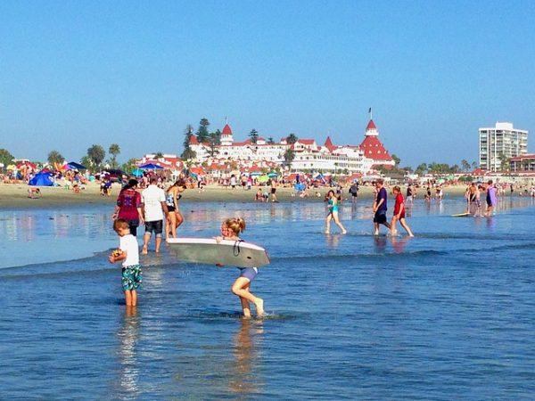 hotel del coronado, family beach, california beach
