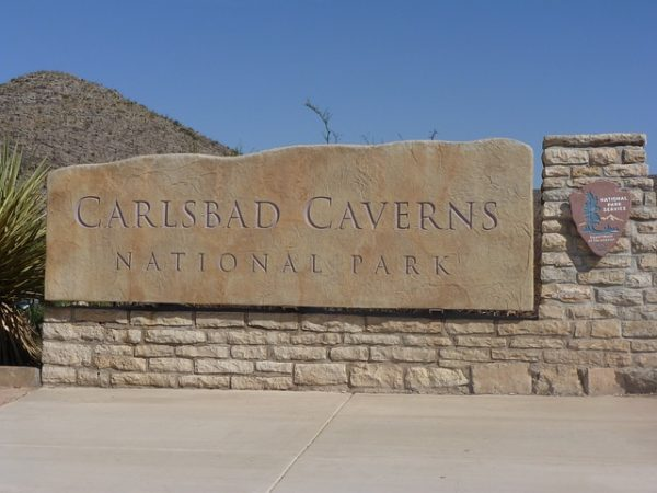 Carlsbad Caverns National Park sign