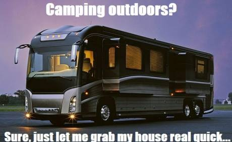 funny camping rv meme about grabbing their house